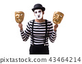 Mime with masks isolated on white background 43464214