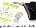 parking ticket, parking, coin parking 43464692