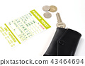 parking ticket, parking, coin parking 43464694