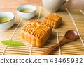 mooncake with tea 43465932
