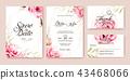 การ์ดแต่งงานสีชมพูกุหลาบ 43468066