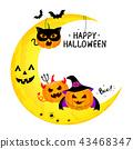 Funny cute cartoon pumpkin character.  43468347