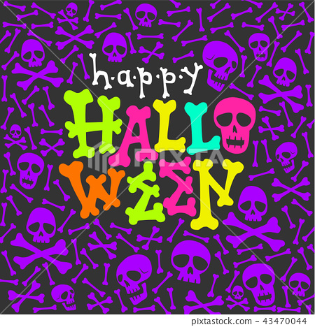 halloween party glow in the dark card 43470044