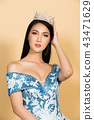 Miss Beauty Pageant Queen Contest in Asian Gown 43471629