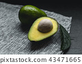 Fresh Avocados Nice to eat On the fabric Dark tone 43471665