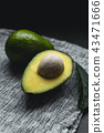 Fresh Avocados Nice to eat On the fabric Dark tone 43471666