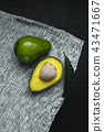 Fresh Avocados Nice to eat On the fabric Dark tone 43471667