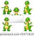 Crocodile cartoon set 43471810