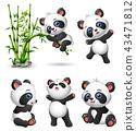 熊貓 動物 卡通 43471812
