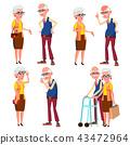 human grandfather grandmother 43472964