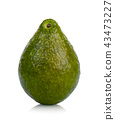 Green avocado isolated on white background 43473227