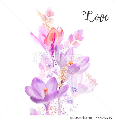 優雅的水彩水仙花花卉 43473345