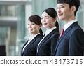 企業招聘求職狩獵商人辦公室新員工女企業家團隊 43473715