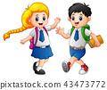 男生 女学生 卡通 43473772