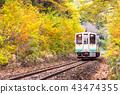 White train commuter Fukushima Japan 43474355