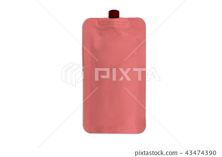 sachets packaging color pink 43474390