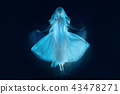 photo as art - a sensual and emotional dance of beautiful ballerina through the veil 43478271