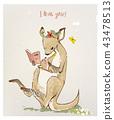 kangaroo with little baby 43478513