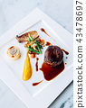 Fillet mignon steak fine dining dish decoration 43478697