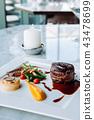 Fillet mignon steak fine dining dish decoration 43478699