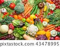 Summer vegetables on white table 43478995