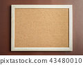 Cork Board on Brown background 43480010