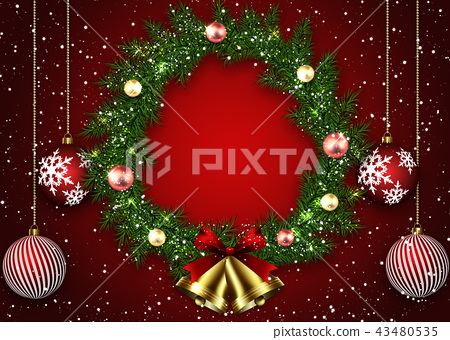 Christmas wreath 43480535