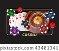 Casino Games of Fortune Conceptual Banner 3d Illustration of Casino Games Elements 43481341