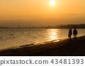 황혼, 해질녘, 바다 43481393