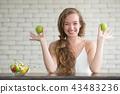 eating,salad,woman 43483236