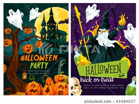 Halloween trick or treat night celebration poster 43484037