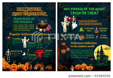 Halloween trick or treat night celebration poster 43484056