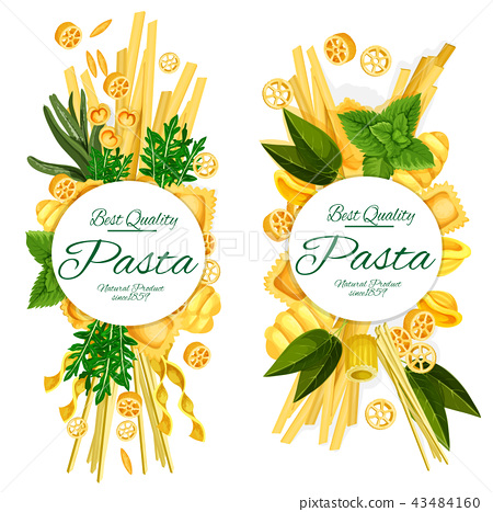 Best quality Italian pasta food vector posters 43484160