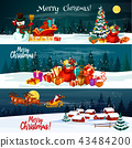 Christmas holiday Santa gift vector banners 43484200