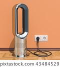 Bladeless air fan in interior, 3D rendering 43484529