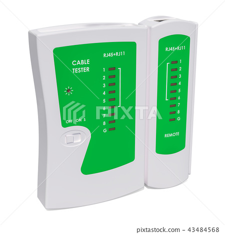 Cable Tester, 3D rendering 43484568