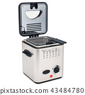 Domestic deep fryer, 3D rendering 43484780