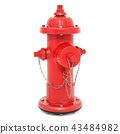 Fire Hydrant, 3D rendering 43484982