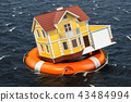 home, house, lifebuoy 43484994