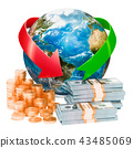 Global financial and banking services concept 43485069