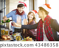 Young people celebrating new year and christmas 43486358