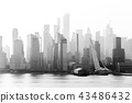 New York City midtown Manhattan skyline panorama view from Boulevard East Old Glory Park over Hudson 43486432