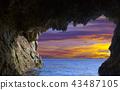 Grottos at coast 43487105