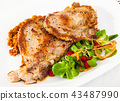 Pork chop with lentils and salad 43487990