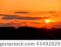 Sunset over Hakone mountain 43492020