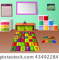 Preschool kindergarten classroom cartoon 43492284