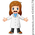 Happy cartoon female doctor 43493179