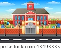 School building and playground area 43493335