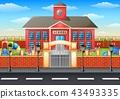 學校建築 操場 院子 43493335