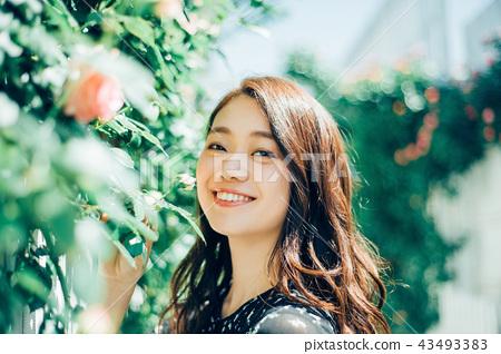 Flower living female portrait 43493383